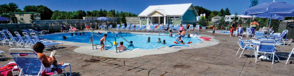 pool at Sunny Brook RV Resort, Class A Motorcoach Resorts in Michigan, Luxury Class A Motorcoach Resort in Michigan
